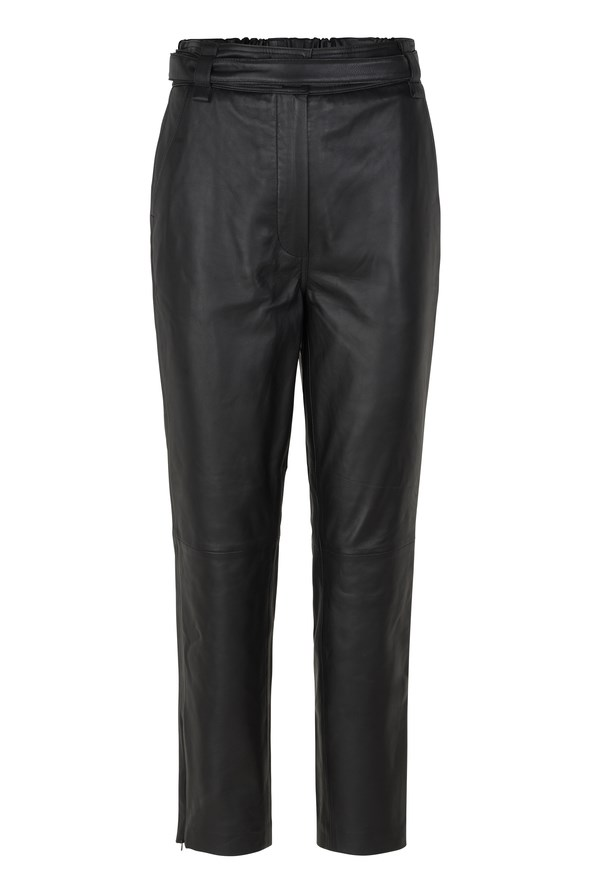 Second Female Indie Leather new Trousers - Sort
