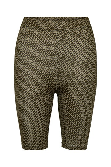Gestuz Pilo MW Printed Short Tights - Brown Logo